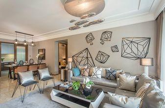 140平米三室一厅现代简约风格客厅图
