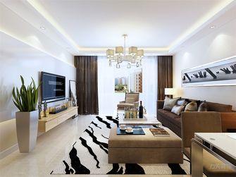 90平米三室两厅现代简约风格客厅沙发装修效果图