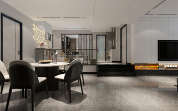 140平米四室四厅现代简约风格其他区域图