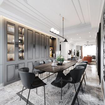 经济型80平米三室一厅欧式风格餐厅图