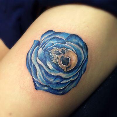 骷髅玫瑰纹身款式图