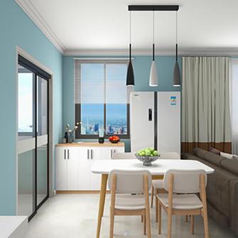 90平米地中海风格餐厅设计图