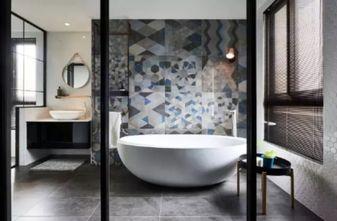 90平米一居室现代简约风格卫生间图