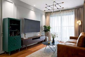 80平米三英伦风格客厅设计图