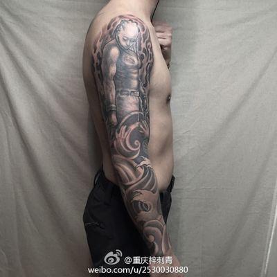 大臂修改小臂恢复纹身款式图