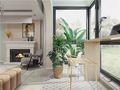 120平米三室一厅法式风格阳台设计图