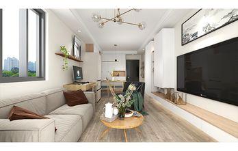 50平米一居室现代简约风格客厅图片大全