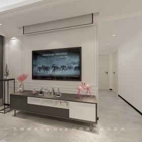 80平米三室兩廳現代簡約風格客廳圖片大全