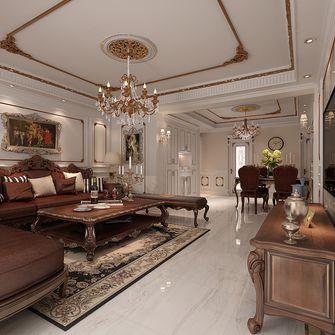 130平米三室两厅欧式风格客厅装修图片大全