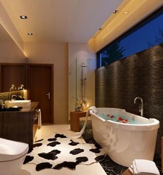 90平米三新古典风格卫生间装修效果图