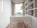 富裕型90平米三室两厅田园风格书房图片