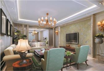140平米复式东南亚风格客厅图片大全