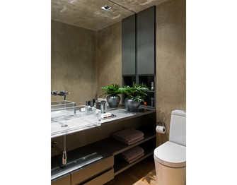 90平米三室两厅现代简约风格卫生间装修图片大全