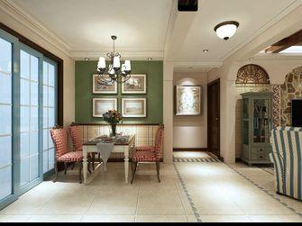 140平米三室一厅田园风格餐厅图