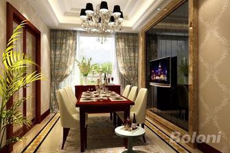 140平米三室两厅欧式风格餐厅设计图