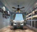 110平米一居室地中海风格餐厅效果图