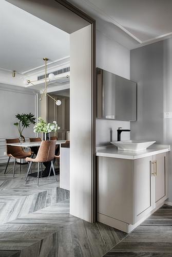 140平米三室一厅美式风格客厅设计图