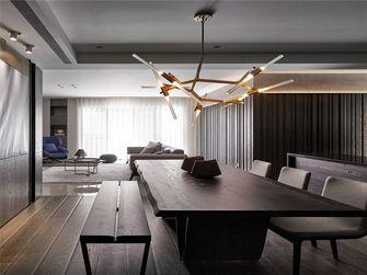 100平米三室一厅英伦风格餐厅装修案例