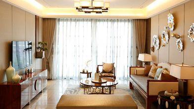 120平米一居室中式风格客厅装修图片大全