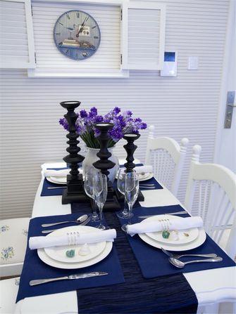 110平米三室两厅地中海风格餐厅图片大全