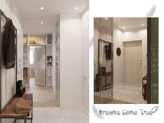 60平米一室一厅英伦风格客厅装修图片大全