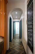 100平米三室两厅东南亚风格走廊装修效果图