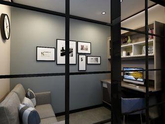 80平米三室一厅现代简约风格书房装修案例