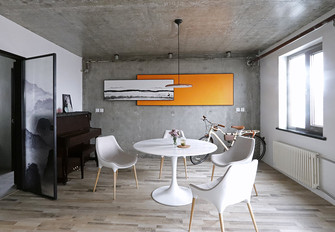 140平米一居室混搭风格餐厅设计图