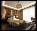 140平米别墅中式风格卧室壁纸装修效果图