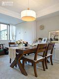100平米三室两厅美式风格餐厅家具图