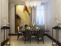 90平米欧式风格餐厅背景墙装修案例