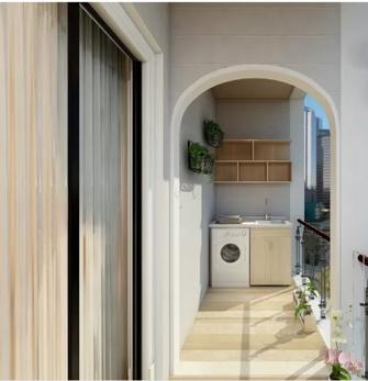 80平米一居室北欧风格阳台装修案例