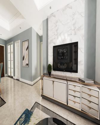120平米三室四厅现代简约风格客厅图片