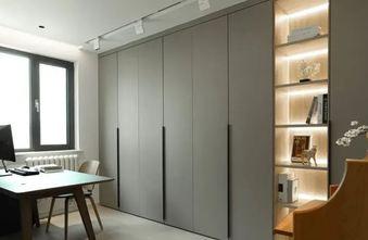 100平米三室一厅日式风格书房图