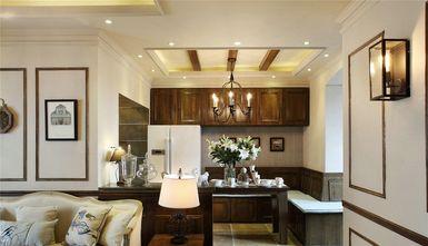 富裕型90平米三室一厅法式风格餐厅效果图
