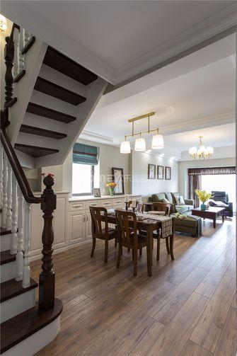 富裕型130平米三室两厅美式风格楼梯图