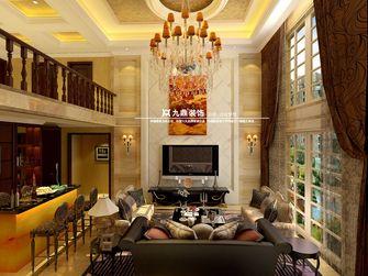 富裕型140平米复式欧式风格客厅装修案例