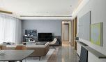 80平米三室一厅混搭风格客厅效果图