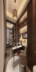 120平米四室两厅现代简约风格书房家具效果图