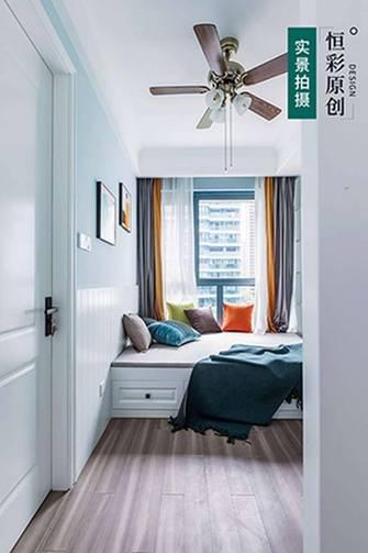 5-10万80平米三室两厅美式风格书房设计图