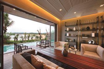 120平米三室一厅东南亚风格阳台图片
