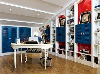 140平米四室一厅地中海风格书房设计图