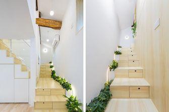 80平米三室两厅日式风格楼梯间设计图