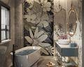 140平米三室两厅法式风格卫生间设计图