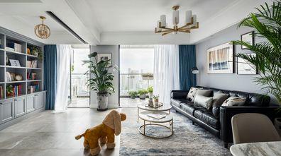 120平米复式美式风格客厅图片大全