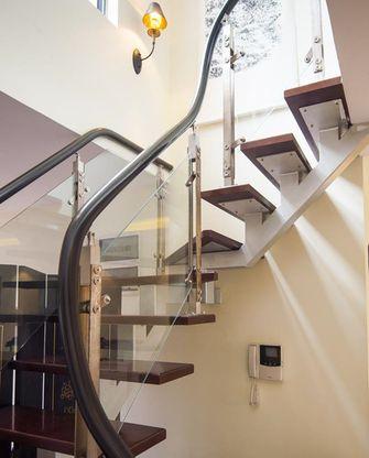 富裕型140平米三室三厅现代简约风格楼梯图片大全