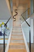 豪华型140平米四室两厅中式风格楼梯图片