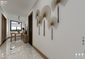 100平米三室一厅现代简约风格走廊图片