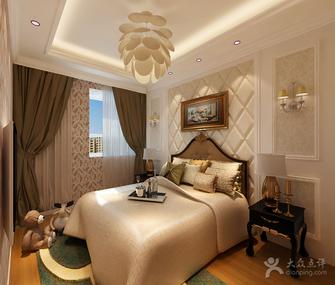 10-15万130平米三室两厅欧式风格卧室背景墙装修效果图