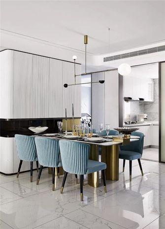 120平米三室一厅现代简约风格餐厅装修图片大全